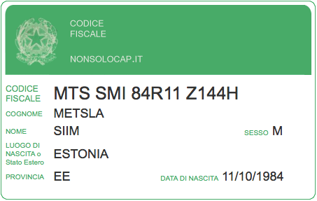 How to get Codice Fiscale, Italian Fiscal tax code in Italy or online as a foreign tourist / student / worker